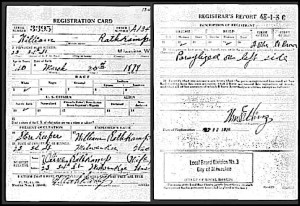 Rathkamp, Wm J WW1 Draft Card