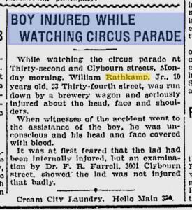 Rathkamp, Wm Jr Circus Parade